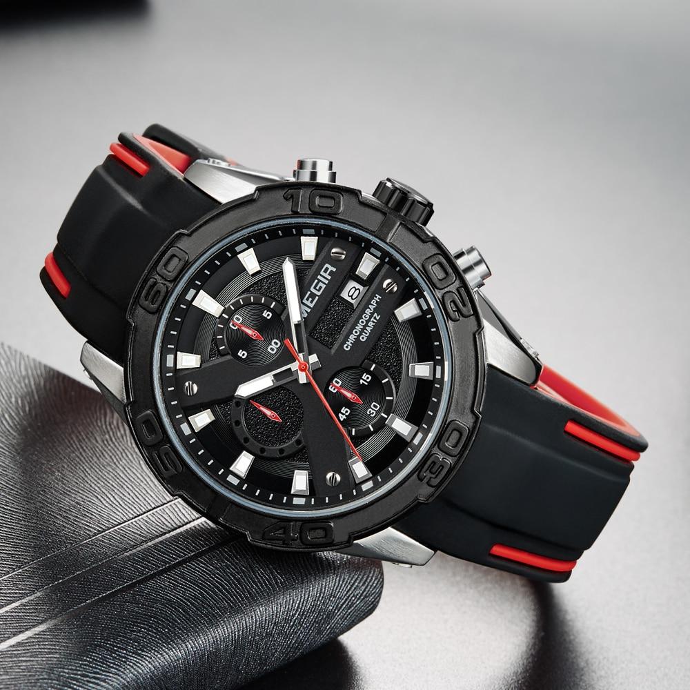 MEGIR Top Marka Luxury Sport Watch Mężczyźni Silikonowy zegarek - Męskie zegarki - Zdjęcie 2