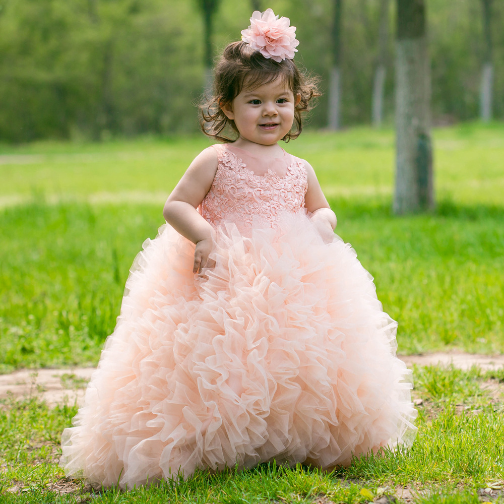 Girl Princess Western Wedding Gauze Child Wedding Dress Flower Girl