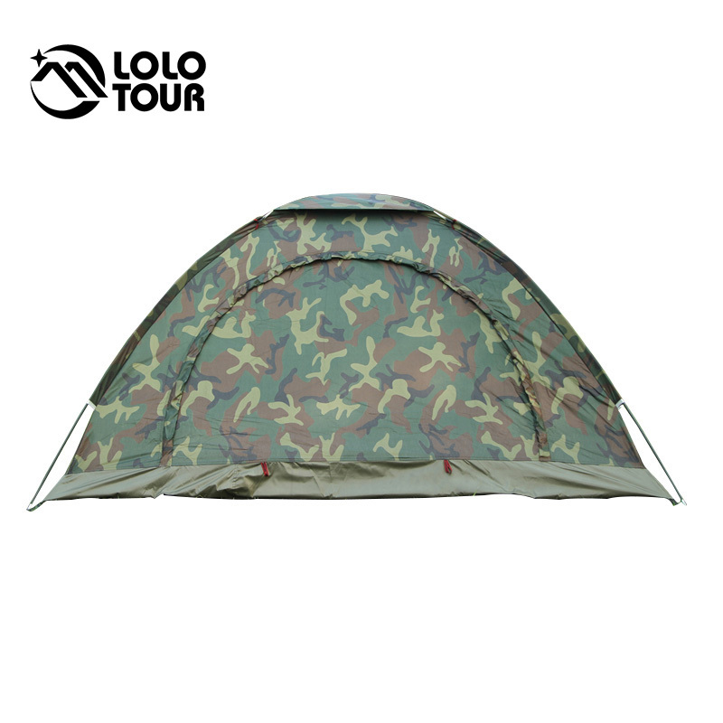 Outdoor fishing folding camping camouflage tent 1 2 person for Outdoor fishing