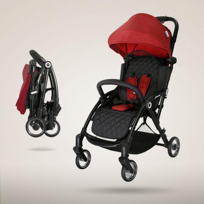 Poussette de bébé portable légère de luxe Bebek arabasi poussette pour bébé poussette landaus pour les nouveau-nés maternelle marque pochette A32