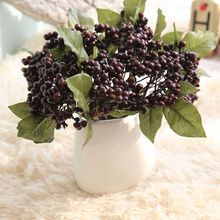 10pcs Decorative Blueberry Fruit Berry Artificial Flower Silk Flowers Fruits For Wedding Home Decoration Plants