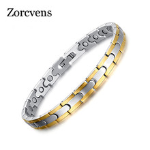Fashion Bracelet Jewelry Energy Gold-Color Women Health ZORCVENS for Man And