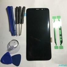Оригинальный супер AMOLED для Samsung Galaxy S8 S8 plus G950f G950 G955 G955F дефект ЖК дисплей сенсорный экран дигитайзер с рамкой