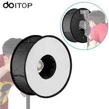 DOITOP Ring Softbox For SpeedLite Flash light 45cm Foldable Difusor Macro Shoot Soft box for Canon Nikon Nissin Speedlight #