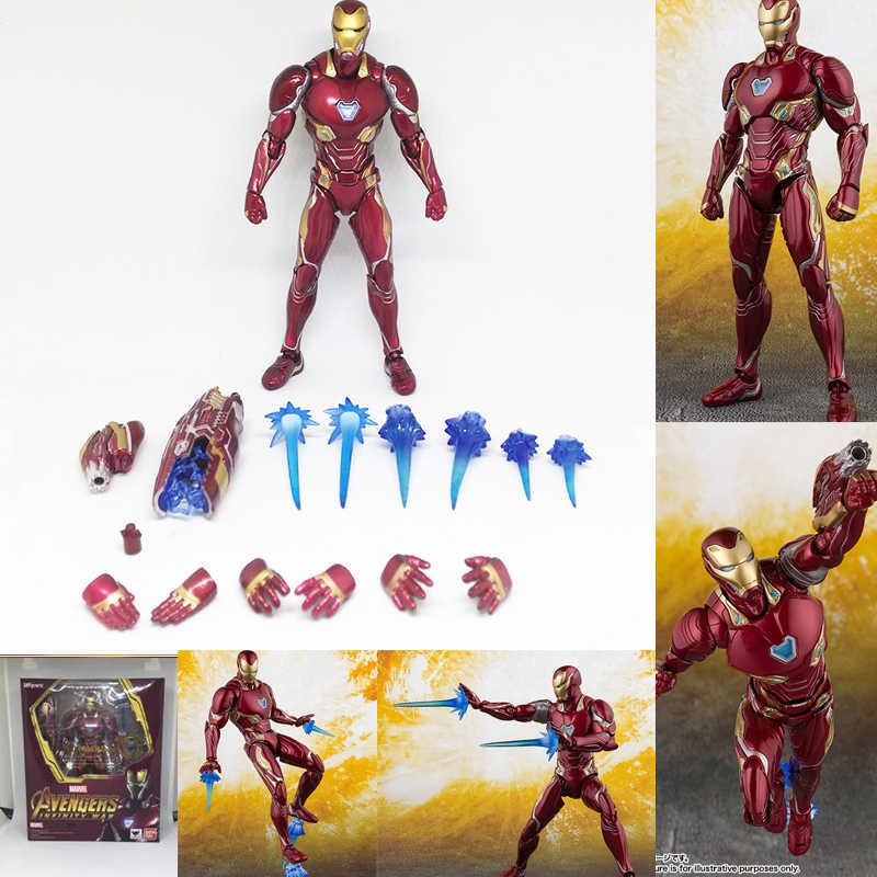 SHF Avengers Endgame Infinity Guerra Thor Vedova Nera Thanos Iron Man SpiderMan Captain America star Carico Figura Giocattolo