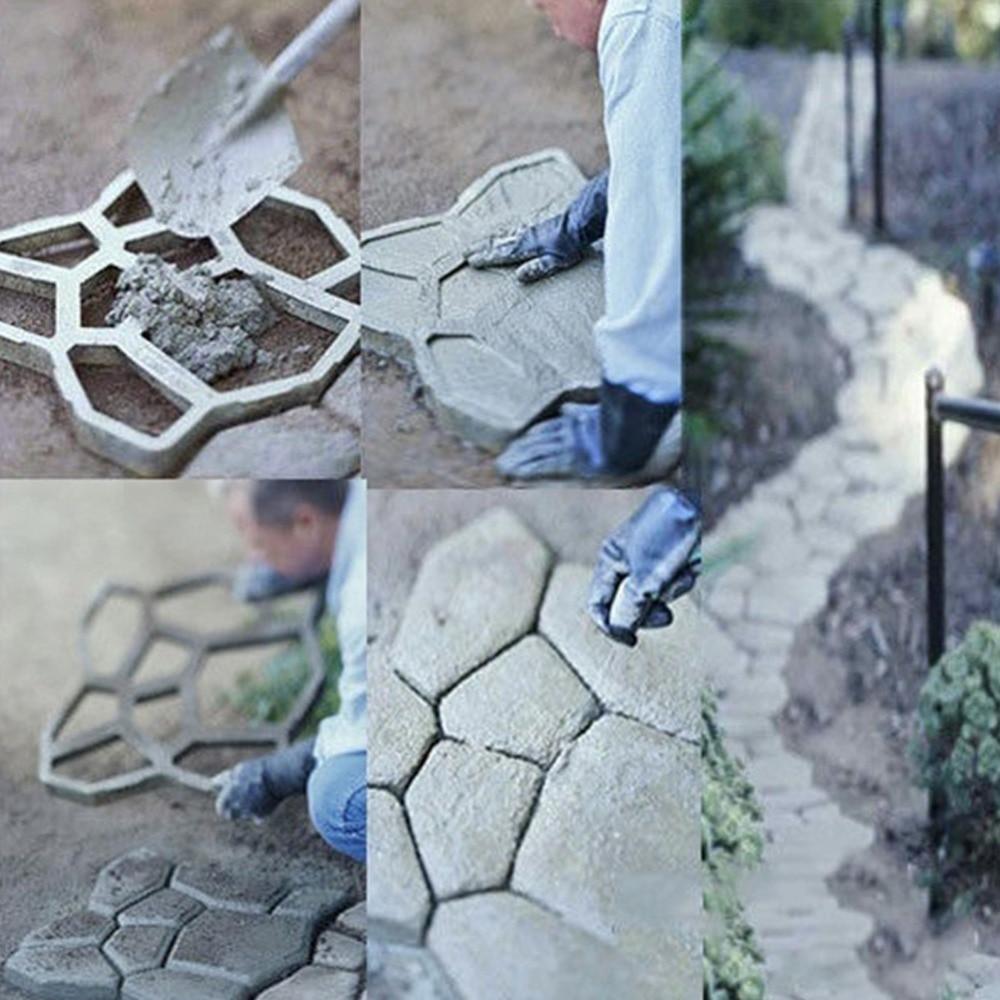 DIY Plastic Path Maker Mold House Garden Paving Cement Brick Molds ...