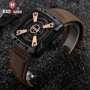 Image 2 - 612G New KADEMAN Fashion Watch Men Quartz Outdoor Sport Leather Wristwatches Casual Waterproof Unique Design Relogio Masculino