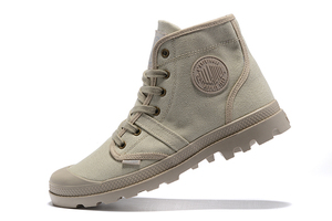 Image 5 - PALLADIUM Pampa Hi Work Casual Breathable Sneakers Lace Up  Ankle Boots Lace Up Canvas Men Casual Shoes Size 39 45