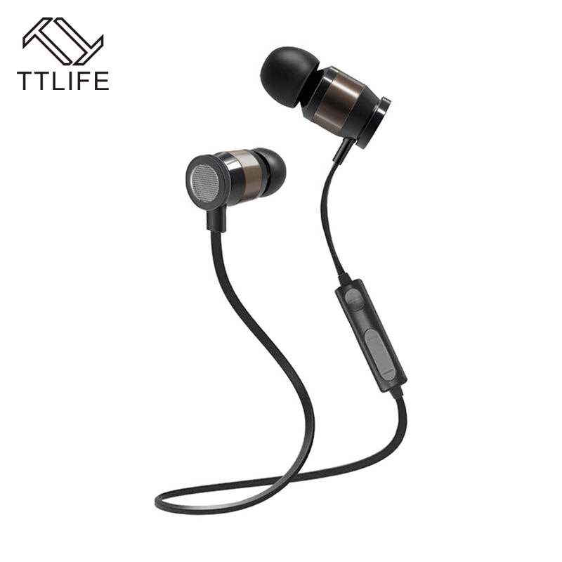 TTLIFE Wireless Noise Cancelling Bluetooth 4.1 Earphones HD Sound Super Bass Stereo Sport Headset with Mic and Long Time Standby 2016 white and black joway h 08 wireless noise cancelling voice control sports stereo bluetooth v4 0 earphones with microphone