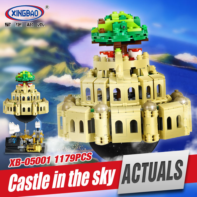 все цены на XingBao 05001 1179Pcs Genuine Creative MOC Series The City in The Sky Set Children Educational Building Blocks Bricks Model Gift