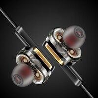 Schwere Bass In-Ohr Kopfhörer mit Mic 3,5mm Doppel Dynamische 360 Grad Surround Sound Stereo Ohrhörer Headset