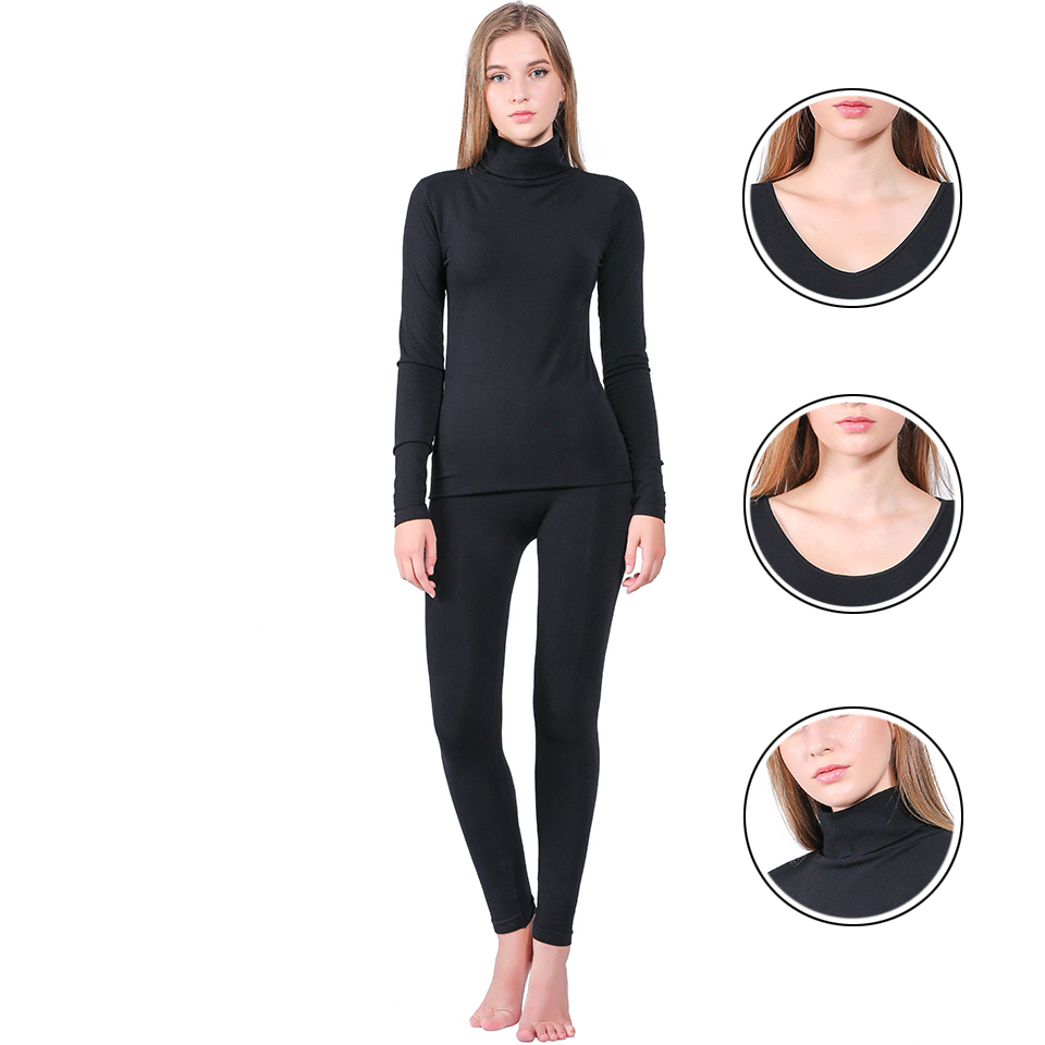 Brand 2019 New Winter Thermal Underwear Women Elastic Breathable Female U-neck Casual Warm Long Johns Sets