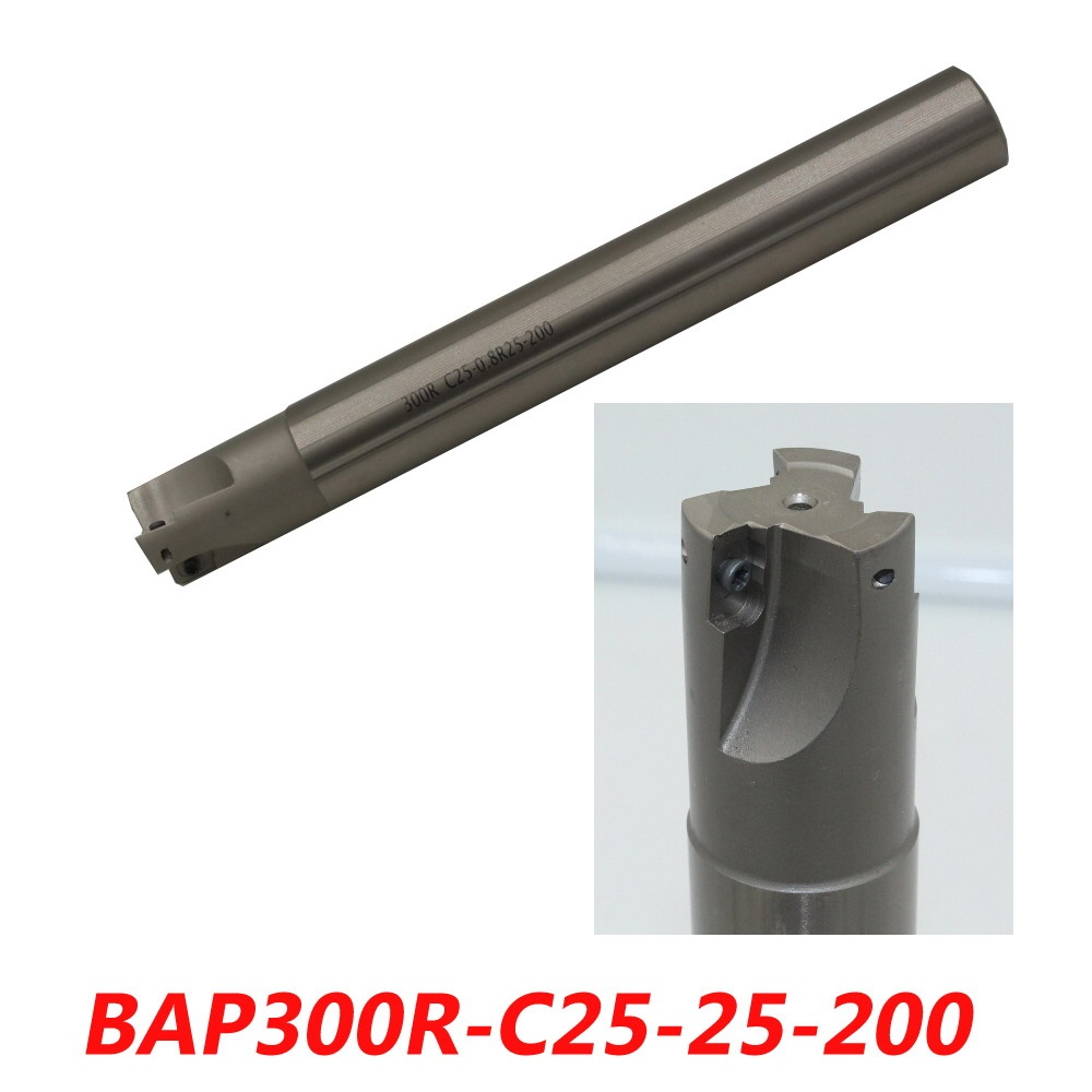 BCF 15R-C32-300L ball nose milling cutter arbor copy milling cutter for finish machining ZCET\W carbide inserts