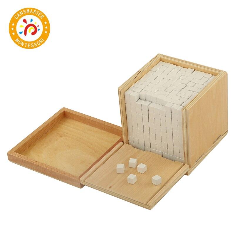 Bébé jouet Montessori Volume boîte avec 1000 Cubes éducation de la petite enfance préscolaire formation enfants jouets