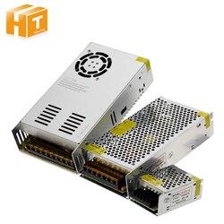 Fonte de Alimentação DC12V 1A 2A 5A 8.3A 10A 15A 16.7A 20A 25A 30A 33A 40A 50A Transformadores de iluminação LED Driver para Interruptor de Tira CONDUZIDA