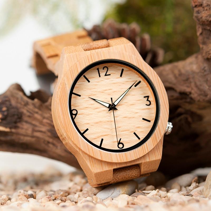 relogio masculino BOBO BIRD Wood Watch მამაკაცები - მამაკაცის საათები - ფოტო 3