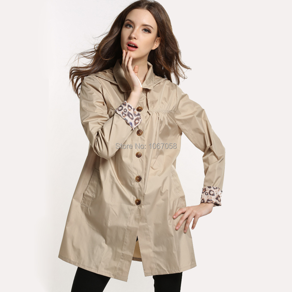 New fashion women's raincoat cute adults casual tour rain jackets ...