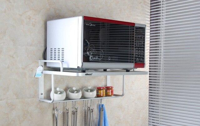 Aluminum Microwave Oven Shelf Thickening Kitchen Holder Kitchen Rack  Kitchen Shelf Multifunction Shelf