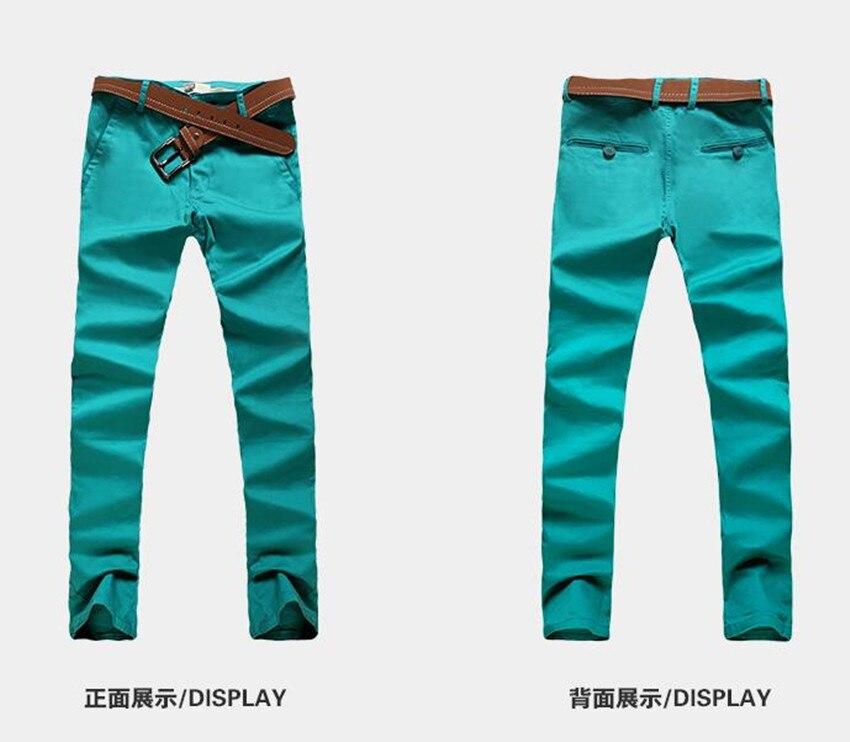 Осенние мужские цвет повседневные штаны Хлопок Универсальный самосовершенствование