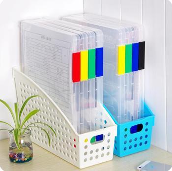 Kreatywne na biurko organizator biurowy teczka na dokumenty szuflady folder A4 przeźroczyste tworzywo sztuczne Bill pudełko do sortowania tanie i dobre opinie 30 5*22 5*1 8cm Random Color Przypadku Plik skrzynka