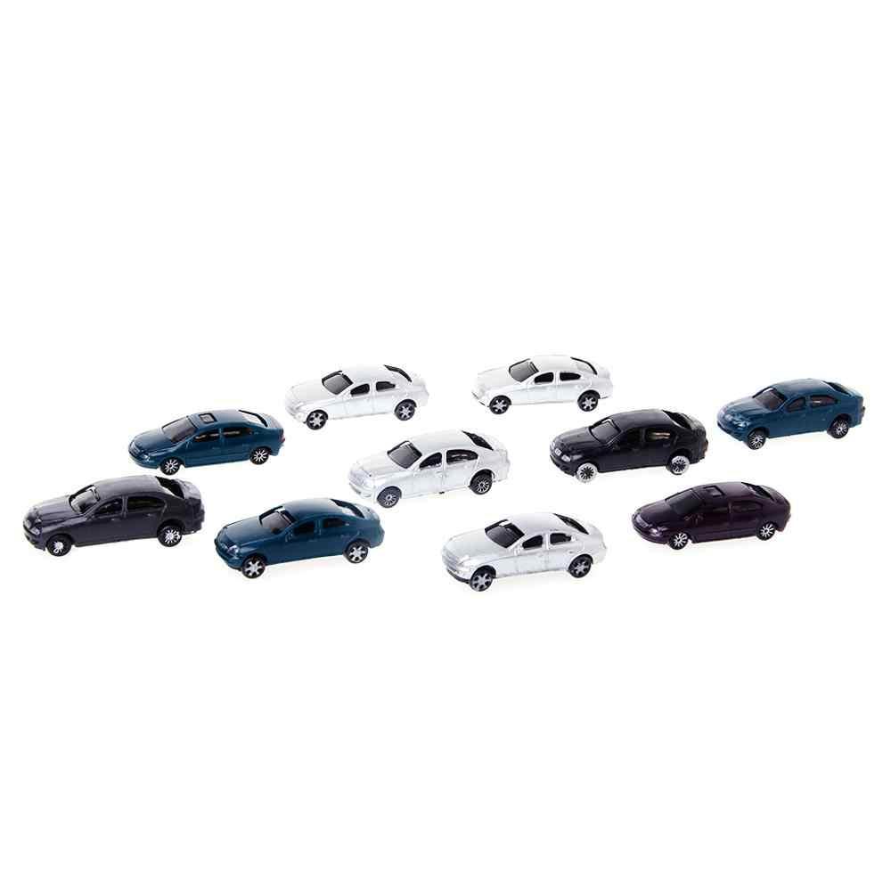 Nowy 10x1: 100 malowane modele samochodów układ budynku HO skala modelu budynku zabawki