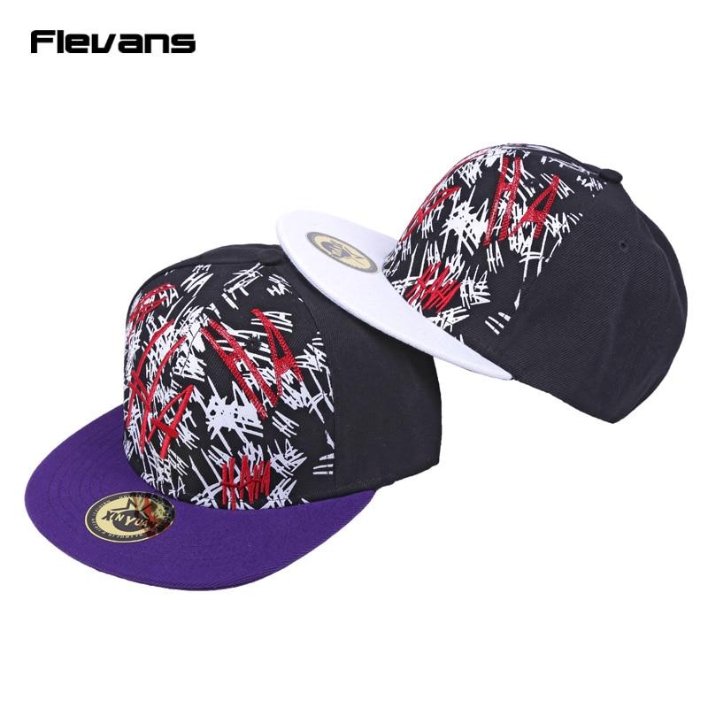 Prix pour Commando Suicide Le Joker Chapeau Plat Hip Hop Chapeau Snapback Baseball Caps pour Hommes Femmes