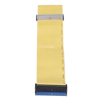 40 Pins 80 Wire PATA/EIDE/IDE Hard Drive DVD Ribbon Cable Yellow 40cm For Dual Devices Telecom Parts image