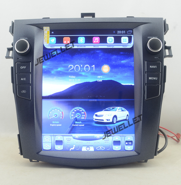 """10.4"""" tesla style vertical screen android 6.0 Quad core Car stereo multimedia video player for Toyota Corolla 2006-2013"""