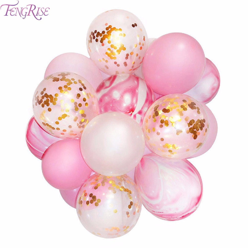 FENGRISE 20pcs Gold Confetti Balloons Latex Ballons Birthday Party Baloon Wedding Decoration Baby Shower Kids Party Favors