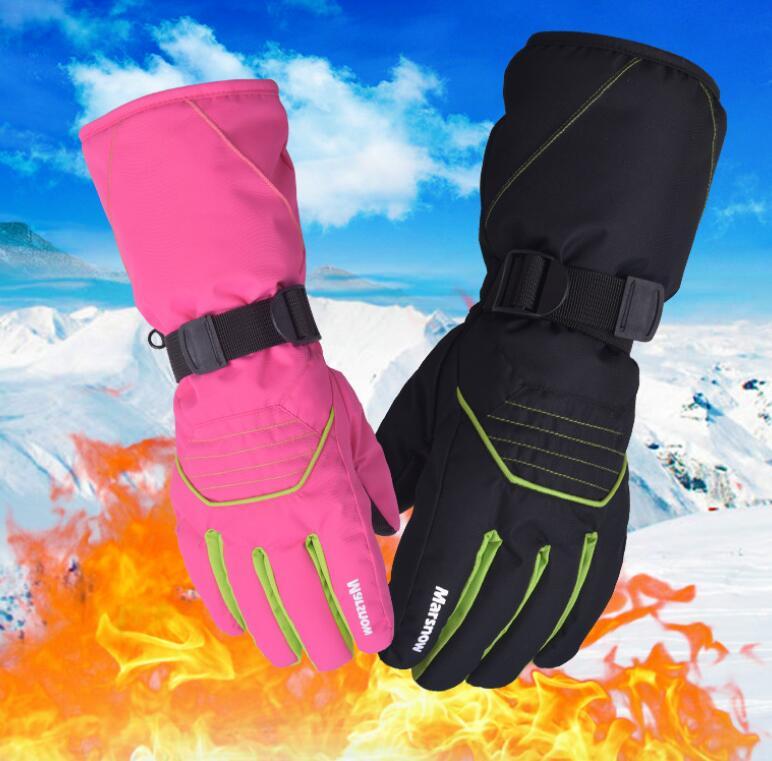 Marsnow Winter Ski Skiing Gloves Snowboard Snowmobile Motorcycle Riding Sports Windproof Waterproof For Men Women
