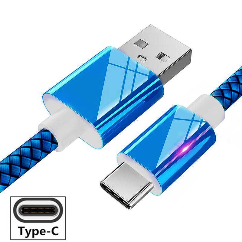Usb type C нейлон Быстрая зарядка type-C USB кабель синхронизации зарядного устройства для Xiaomi Redmi Note 7 K20 pro huawei P20 lite P30 Honor 10 9 V20