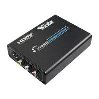 BEST SOLUTION VS8812 HDMI to AV/Svideo Video Converter HDMI 2 RCA/SVIDEO+S VIDEO Switcher Adaptor 1080P HD Free Shipping
