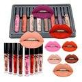 8 Pcs/Set Popfeel Cosmetics Lip Kit Maquiagem Matte Lip Gloss Matt Lipstick Liquid Make up Lips Makeup Lip Pencil Batom