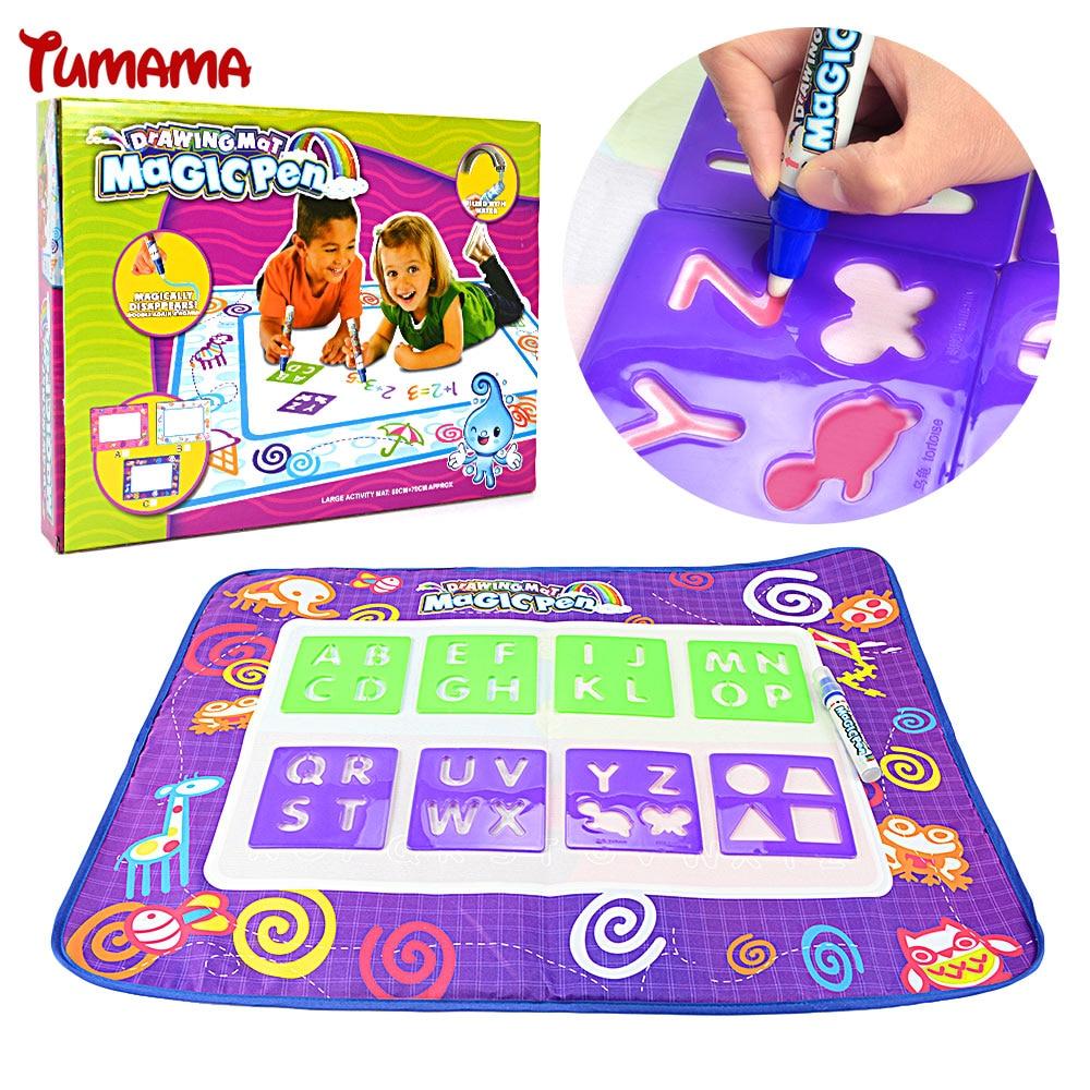 Anak Lukisan Tikar Aqua Doodle Menggambar Mainan 70X49 5 cm 1 pcs Sihir pena Menggambar Bermain Tikar Mewarnai Gambar Karpet Tikar untuk Anak mainan di