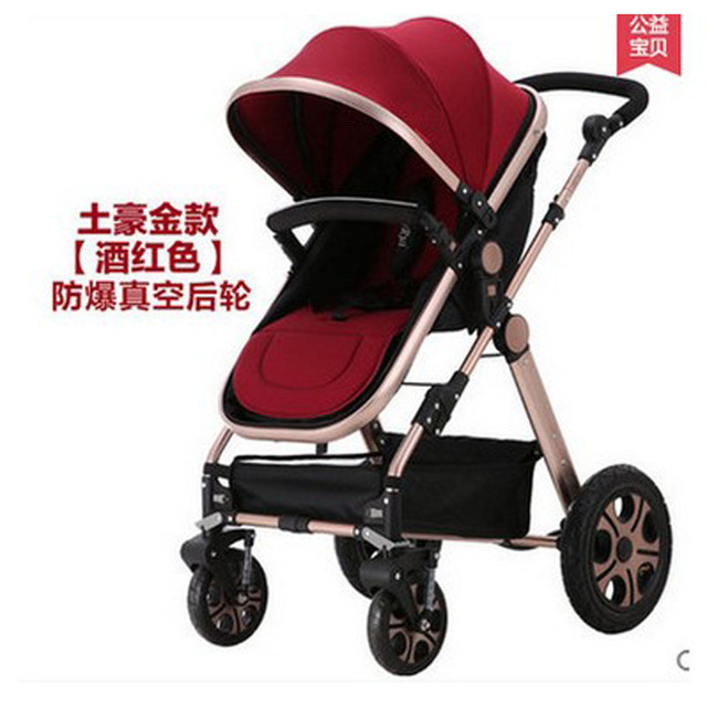 2016 Nuevo diseño de Lujo del cochecito de bebé 3 en 1, 5 colores cuatro ruedas solo asiento canasta de dormir
