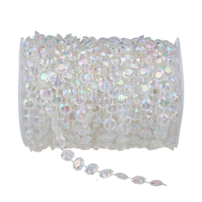 Fashion Style 12mm *20Meter Crystal Beads <font><b>Curtain</b></font> Handmade Crystal Glass AB <font><b>Curtain</b></font> Porch Partition Door <font><b>Curtain</b></font> Customized