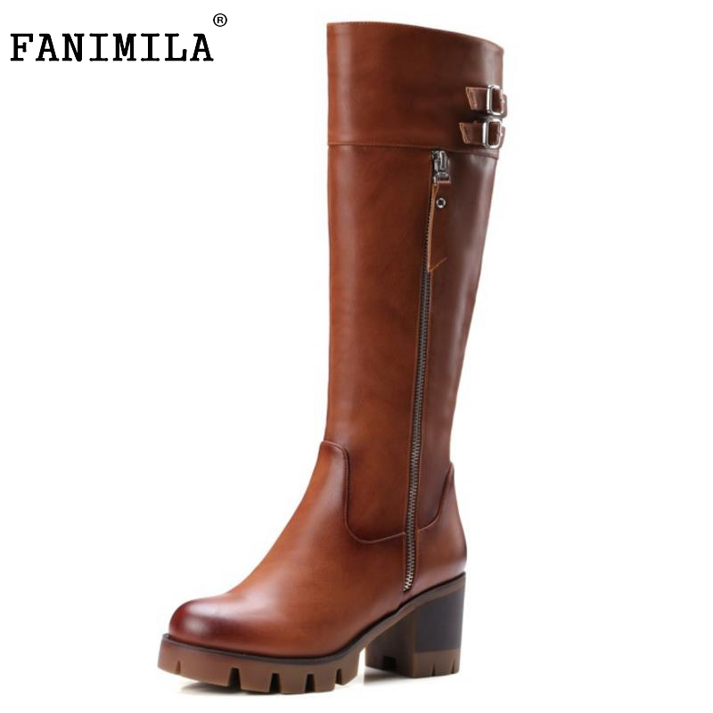 Cool Knight Boots Knee High Boots For Women Gladiator Square Med Heels Round Toe Shoes Winter Autumn Shoes Woman Size 32-42 enmayer green vintage knight boots for women new big size round toe flock knee high boots square heel fashion winter motorcycle