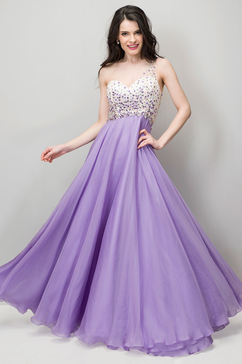 Online Get Cheap Lilac Prom Dress Aliexpress