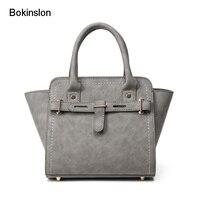 Bokinslon Woman Handbags Bags PU Leather Simple Crossbody Bag Women Solid Color Elegant Ladies Shoulder Big Bags