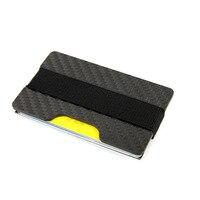 Carbon Fiber RFID Blocking Money Clip Credit Card Holder Slim Wallets Business Card Holders Durable 3K