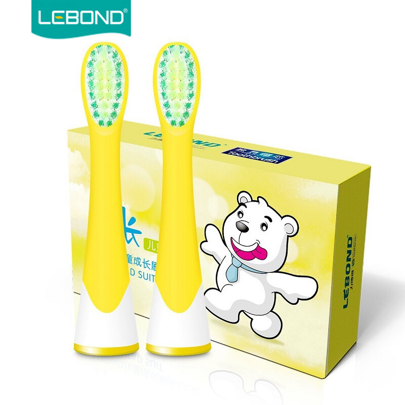 LEBOND Sonic Electric Toothbrush Heads Kids Children Brush Head Childhood Series 2 Pcs Silicone Material Soft Bristles For Gums 4pcs electric sonic replacement tooth brush heads for philips sonicare toothbrush heads dual soft bristles sensiflex hx2014