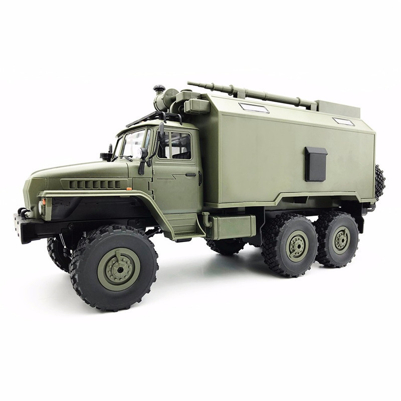 WPL B36 1:16 Remote Control Military Truck 6 Wheels Drive 2.4G Off Road RC Car 4WD Radio Controlled Machine Car Christmas Gift