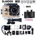Go pro hero 3 style mini action camera sj4000 wi-fi completo HD 1080 P 30 M À Prova D' Água 'Wide Angle DV câmera Digital subaquática