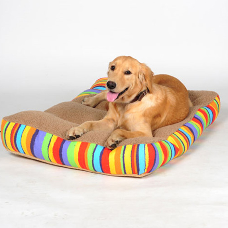 Pet Dog Rainbow Colourful Cushion Dog Mat Warm Soft Puppy Sleeping Bed Nest waterproof doghouse GW0112
