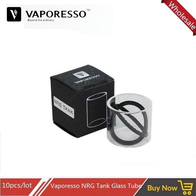 10pc Original Vaporesso Pyrex Glass Tube Cap For Swag Vape Nrg Se Sub Ohm Tank Nrg Mini Atomizer 22mm 2ml 3.5ml Replacement Tube Electronic Cigarettes