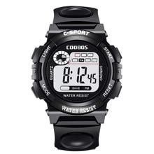 цены New Mens Watches Sports Digital Watch Black Rubber Date LED Display Clock Fashion Waterproof Wristwatches reloj deportivo hombre