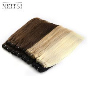 Neitsi Human-Hair-Extensions Hair-Weft Double-Drawn -P27/613 100g/Pc 12-26-Remy Straight