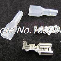 400pcs 6 3mm Crimp Terminal Female Spade Connector Male Spade Connector Case
