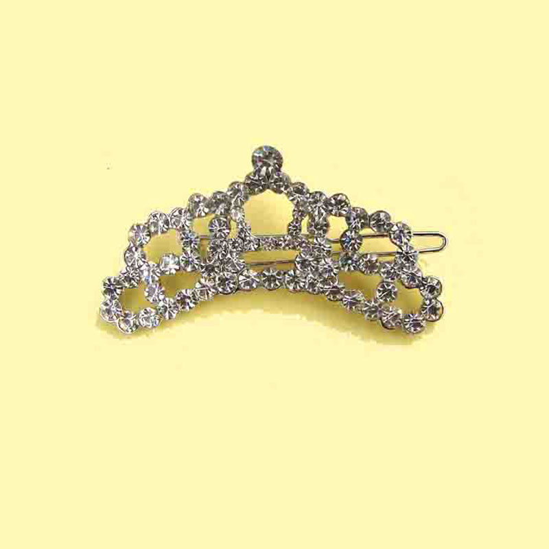 Fashion crystals pet tiara crown charm hair decoration clip women's hair clips jewelry ornament accessories free shipping 6pcs x
