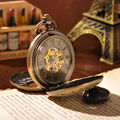 Round Necklace Chain Mechanical Pocket Watch New Arrival Fashion Men Skeleton Watches Antique Steampunk Vintage Pocket Watch